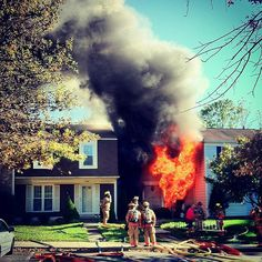 Townhouse fire 4500 block of Cannes Ln.  Photo courtesy of FF Matt Miles.