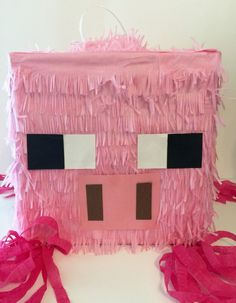 Box Pig Piñata for Minecraft Party by Theperfectpinata