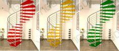 Cores - Escadas em diversas cores primárias