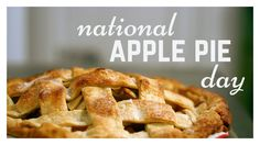 """#20160513 #May13th #USA #NationalDayCalendarUSA #NationalApplePieDay #ApplePie """"National APPLE PIE Day"""" @Foodimentary Five Food Finds about Apple Pie: 1.The first printed reference to apple pie was in 1589 by Robert Greene in 'Arcadia': """"Thy breath is like the steame of apple-pyes."""" 2.Tradition has it that Yale College served apple pie at every supper for more than 100 years... https://foodimentary.com/2016/05/13/may-13-todays-food-history/"""