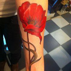 #flower#poppy#coquelicot#tattoo#rude##23keller#artnouveau#paris (à 23keller tattoo)