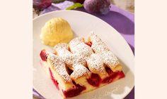 Schneller Pflaumenkuchen vom Blech Rezept: Ein fruchtiger Obstkuchen vom Blech mit Pflaumen - Eins von 7.000 leckeren, gelingsicheren Rezepten von Dr. Oetker!