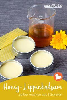 Simply make healing honey lip balm yourself- Heilsamen Honig-Lippenbalsam einfach selber machen Honey lip care: recipe for lip balm with the liquid gold - Beauty Care, Diy Beauty, Beauty Hacks, Beauty Tips, Lip Care, Body Care, Diy Lush, Salud Natural, Natural Cosmetics