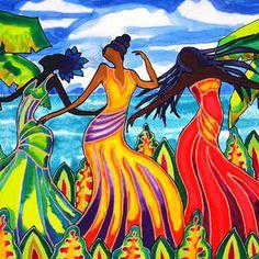 The Other Three Graces Grace Castillo Grace Gonzalez and Grace Lopez Wood Print by Lee Vanderwalker Kandinsky, Got Print, Silk Painting, Belize, Reggae, Fine Art America, Third, Disney Characters, Fictional Characters