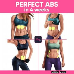 A workout for you to get perfect ABS! Exercises were created to reduce the size of the belly quick and easy! Do it and enjoy the results! , ab workout for women Fitness Workouts, Yoga Fitness, Fitness Motivation, At Home Workouts, Health Fitness, Workout Abs, Workout Routines, Fitness Bodies, Easy Ab Workout