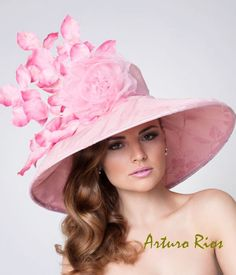 Couture Derby Hat, Pink  Lampshade hat