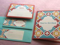 spanish floral wedding invitation