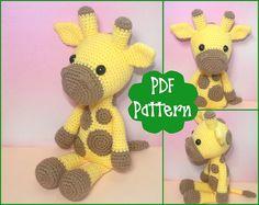 PDF Giraffe Crochet Pattern Giraffe Amigurumi Amigurumi