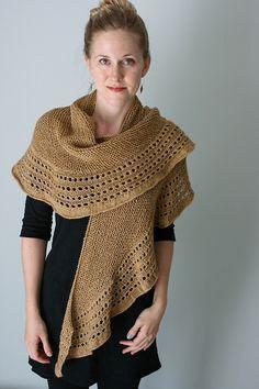 Beurre shawl by the yarniad, silk/camel