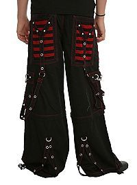 HOTTOPIC.COM - Tripp Black And Red Electro Strap Pants