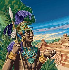 Ancient royal Maya headpiece