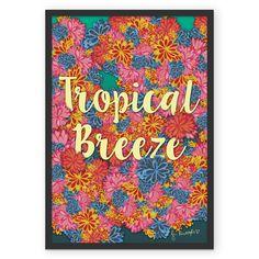 Poster Tropical Breeze de @jurumple | Colab55