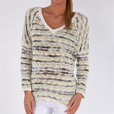 Free People Women's Contemporary Marled Songbird Yarn Pullover #VonMaur #FreePeople #Ivory
