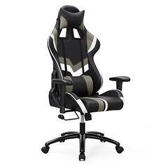 Songmics Chaise gamer Fauteuil de bureau Chaise pour ordinateur hauteur réglable: Confort optimal - Le dossier de 85 cm à coussins latéraux…