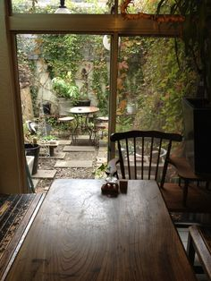 Cafe, Kita-shirakawa, Kyoto University of Art and Design Cafe Interior, Interior Exterior, Interior Design Living Room, Japanese House, Outdoor Living, Kitchen Decor, Living Spaces, Sweet Home, New Homes
