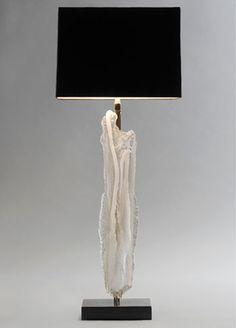 Bernard Figueroa's  Glass Totem sculpture lamp