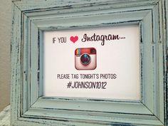 8x10 Instagram wedding sign  custom by TexasFarmersDaughter, $7.00
