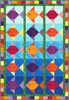 Fish Stix Quilt Pattern - The Virginia Quilter