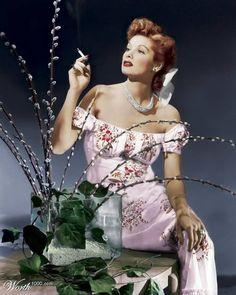 Lucille Ball was a model for Hattie Carnegie   Lucille Ball Chesterfield Cigarette Girl
