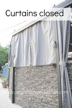 Our patio cover: all the little details | Organizing Made Fun: Our patio cover: all the little details
