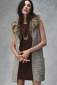 Collared Sweater Vest #anthropologie