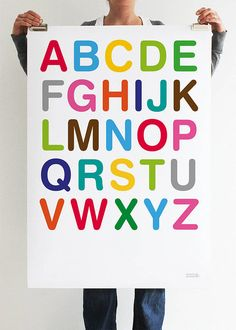multicoloured abc print by showler and showler | notonthehighstreet.com