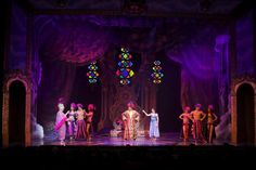 """Qdos production of """"Dick Whittington"""" at the Swan Theatre in High Wycombe, Buckinghamshire, UK. Panto. lighting designer Andy Webb. Photo Louise Strickland. http://livedesignonline.com/robe-cat-s-whiskers-lively-dick-whittington-panto"""