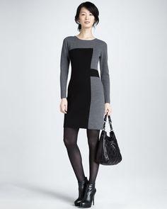 Paneled Intarsia Sweater Dress by Milly at Bergdorf Goodman.