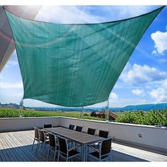 Buy Square Sun Sail Shade Garden Shade Awning With Free Ropes 3.6m Green |Homcom