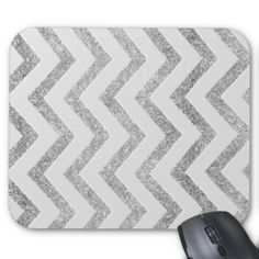 White and silver faux glitter chevron pattern. mouse pads Yes I can say you are on right site we just collected best shopping store that haveDiscount Deals          	White and silver faux glitter chevron pattern. mouse pads please follow the link to see fully reviews...