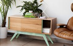 Eastvold – Modern Furniture. Love the wood and use of color. #2Modern