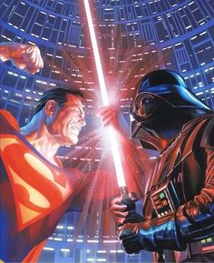 """606 Likes, 7 Comments - Comic Porn  (@javitogonzalez) on Instagram: """"#Superman v #DarthVader by #AlexRoss Go to @thealexrossart for more! #ComicPorn"""""""