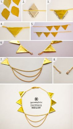 Collar geométrico #Tendencia #DIY