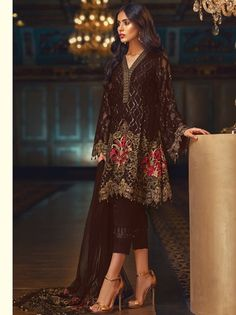 f26c1fd54e 22 Best Jazmin Embroidered Chiffon Collection 2018 images | Baroque ...