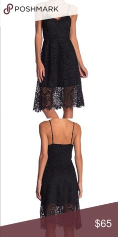 dfc39441546 Shop Women s ASTR The Label Black size S Midi at a discounted price at  Poshmark. Bought at Nordstrom! Black lace midi dress