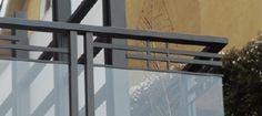 Dark Bronze Anodized Aluminum Glass Railing 2