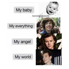 He's literally my everything! #harry #styles #harrystyles #myeverything #mybaby #myworld #myangel #hesmine #lovehim #love