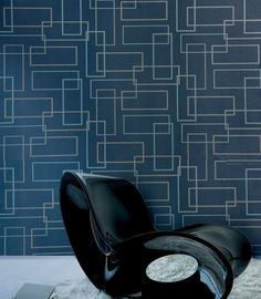 Blue Geometric Wallpaper Design