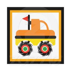 Monster Truck Wrapped Canvas Wall Decor for Kids.  No frame needed. Various sizes and thickness available.