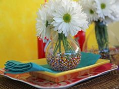 Painted Glass Vases - DIY Mother's Day Gifts Mom Will Love on HGTV