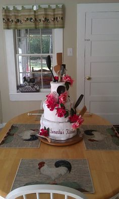 Pampered Chef towel cake! Fun giveaway for all my brides!!