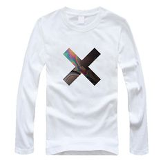 9f921ac6 The XX Rock Band t shirt Coexist Cross Indie Crooks Logo Long Sleeve round  collar Pure