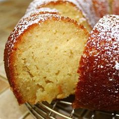 Kentucky butter cake - creamed butter & sugar first, then added wet ingredients followed by dry at end, let cake cool 15min before using chopstick to poke holes, added a tblsp of bourbon to sauce before pouring, let cake sit another 15min after pouring sauce before flipping over onto plate