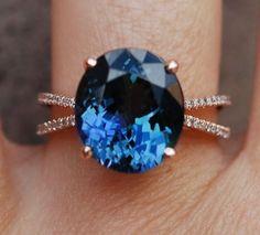 Tanzanite Ring. Rose Gold Engagement Ring. GIA by EidelPrecious