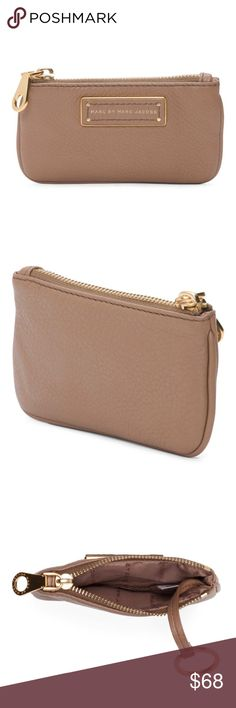 """Marc Jacobs Too Hot To Handle Praline Key Pouch NWT! Marc by Marc Jacobs Too Hot To Handle praline brown leather key pouch wallet. Gold hardware. Interior is lined. Zip closure. 5.75""""x3.5"""". ***No Trades*** Marc By Marc Jacobs Bags Wallets"""