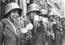 [Photo] Men of Sudeten German Freikorps in the city of Cheb, Czechoslovakia, 3 Oct 1938 Fifth Column, Invasion Of Poland, Rare Images, Faith In Humanity, World War Two, Ww2, Germany, Soldiers, City