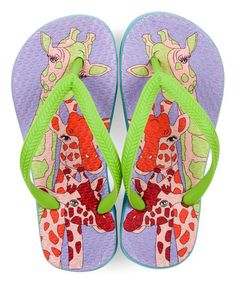 c607d99800 Purple Giraffe Flip-Flop - Kids Rubber Flip Flops