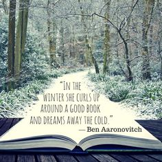 Books help you ignore the freezing cold temperatures!