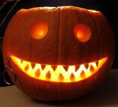 Jack-o-lantern with pierced lips
