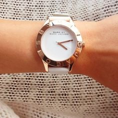 White Logo Watch by Marc By Marc Jacobs <3